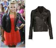 TOPSHOP Premium soft real 100% Leather Black Classic Biker jacket BNWT