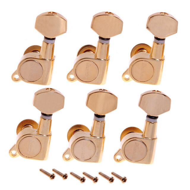 6pcs 3L3R Gold Guitar String Tuning Pegs Keys Knobs Tuners Machine Heads Parts