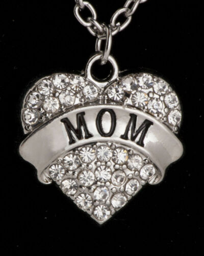 Family Gifts Crystal Love Heart Pendant Rhinestone jewellery for your mom//mother
