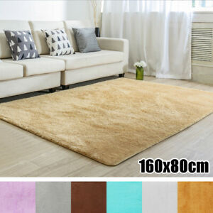 Soft-Fluffy-Rugs-Anti-Skid-Shaggy-Area-Rug-Home-Bedroom-Carpet-Floor-Mat-US