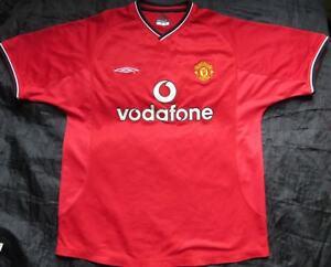 MANCHESTER UNITED home shirt jersey UMBRO 2000 02 Red Devils trikot ... de1b689f7