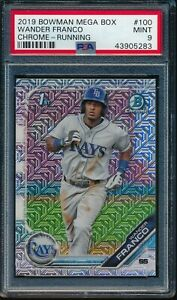 WANDER-FRANCO-2019-Bowman-Chrome-Mega-Box-Mojo-Refractor-Rookie-RC-PSA-9-MINT