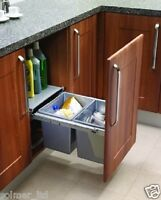 RECYCLE BIN PULL OUT KITCHEN WASTE BIN 450MM - 30 LTR WITH SOFT CLOSE FUNCTION