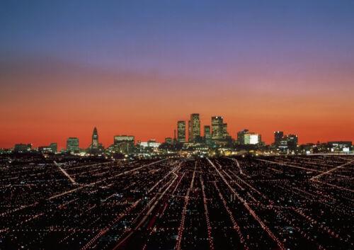 Art print POSTER CANVAS Los Angeles Skyline at Dusk