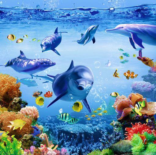 3D Océan 07 Fond Peint d'écran étage Peint Fond en Autocollant Murale Plafond Chambre Art 67c26f