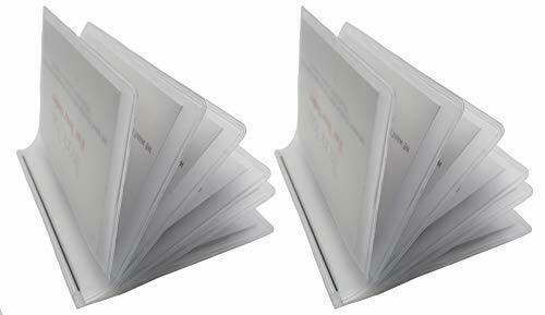Set of 2 Wallet Inserts 6 Page Picture Holders Top Quality Clear Trifold 6 Page