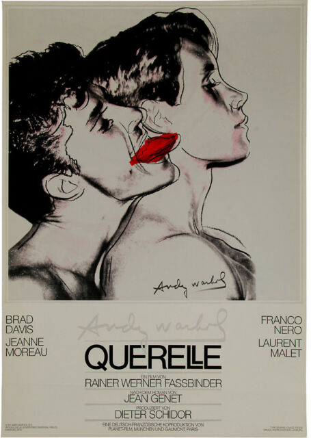 ANDY WARHOL - Querelle (WHITE) Original 1982 Poster Art Print (A) Mint Condition
