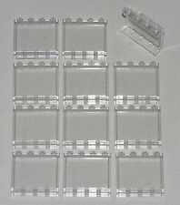 LEGO LOT OF 12 TRANSPARENT CLEAR 1 X 4 X 3 WINDOWS PANELS PARTS