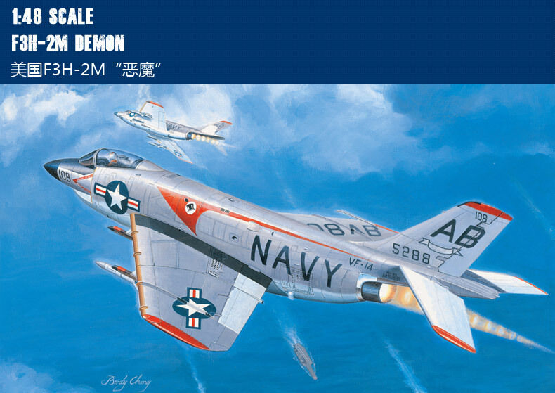 80365 Trumpeter American F3H-2M Demon Carrier-borne Aircraft 1 48 Model