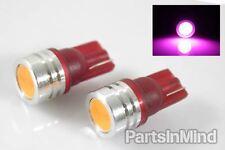 2PC 1 Watt 1W Pink W5W/194/168/T10 Wedge SMD LED Bulbs License/Map/Dome Light