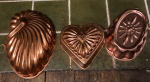 Vintage-Set-Of-Tin-Copper-Molds