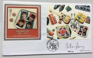HILARY-KAY-TV-Rock-amp-Roll-Auctioneer-Antiques-Signed-9-1-2007-Beatles-FDC-Drums