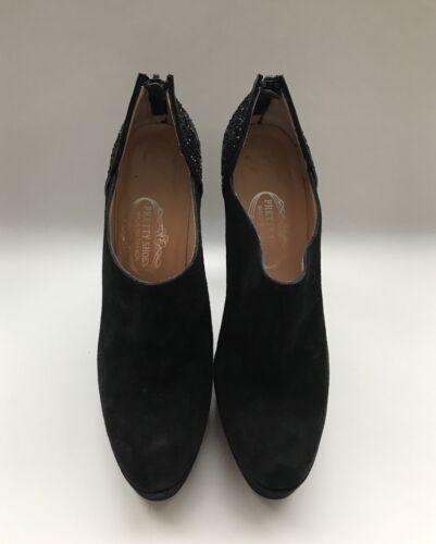 donna 5 medio pelle nero in tacco Eur glitter 4 5 37 Scarpe UK con scarpe  ... 0264a25fd63