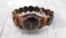Unique Swatch ECAILLE Tortoise Shell Wristwatch ~ 1-F5005