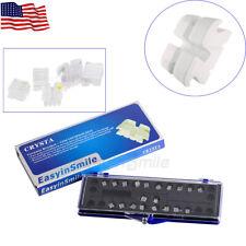 Dental Orthodontic Clear Ceramic Bracket Braces Rothmbt 018 022 Slots 345 Hooks