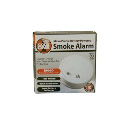 2 PACK IONIZATION SMOKE DETECTOR Battery Operated Home Fire Alarm Safety Sensor
