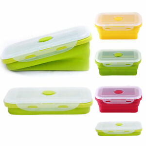 Silicone Gel Eco Collapsible Lunch Box Oven Food Storage Holders Box