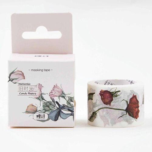 Schöne Blumen Washi Tape Dekoration Scrapbooking Label Aufkleber Gut