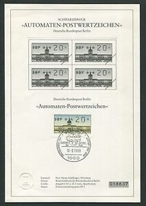 Berlin Atm Schwarzdruck 1988 20 Pfg Z1776 Extrem Effizient In Der WäRmeerhaltung Limitiert ! Blackprint Ltd