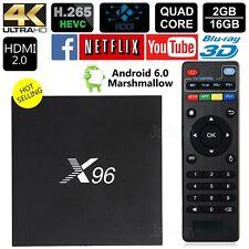 Latest X96 4K Android 6.0 TV Box Quad Core 2GB/16GB Kodi Smart TV Media Player