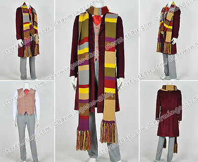 Who Buy Doctor Cosplay The 4th Fourth Dr Tom Baker Costume Whole Set With Scarf