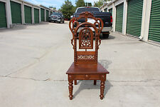 Large Walnut Victorian Renaissance Revival Pierced Carved Music Chair ~Ca.1870