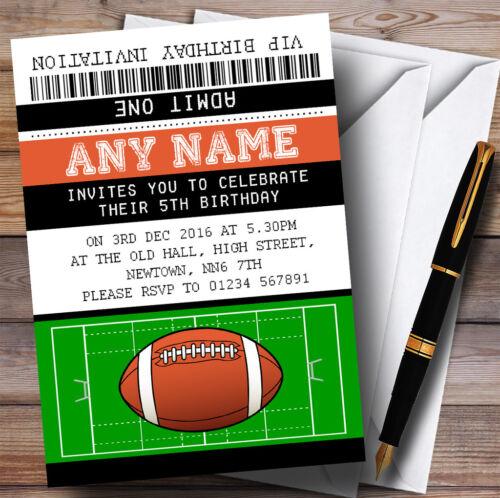 Billet de Match de rugby Childrens Birthday Party Invitations