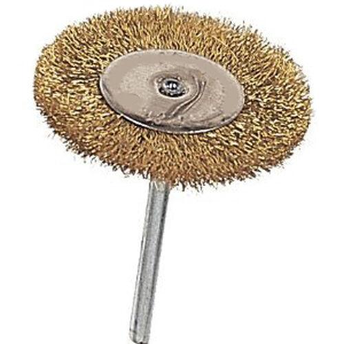 "New 12pc 3//4/"" Dia Brass Wire Wheel Brush Set 1//8/"" Shank Die Grinder Rotary Tool"