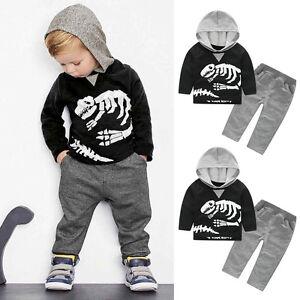 2PCS-Kids-Infant-Baby-Boys-Suit-Hooded-Tops-T-shirt-Long-Pants-Tracksuit-Clothes