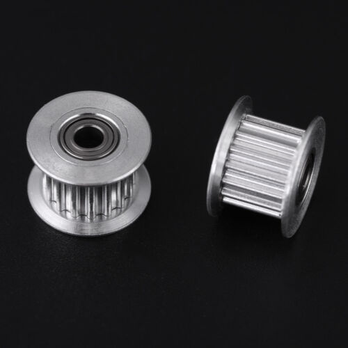 5tlg GT2 6mm//10mm 2GT Riemenscheibe Zahnriemenrad CNC 3D Drucker Welle Aluminum