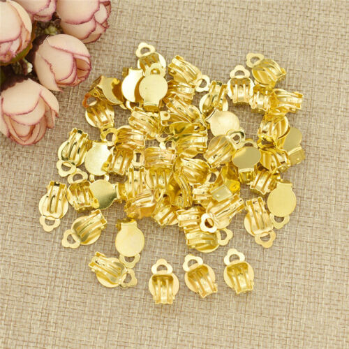 1.0x1.5cm Clip On Earring Findings Iron Jewellery Making Craft Supply 50pcs//Set