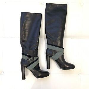 BALENCIAGA Black Leather Suede Tall