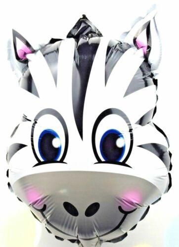 R16F7 not Helium balloon Baby Geburt Zebra Folienballons Party Zoo Tiere Katze
