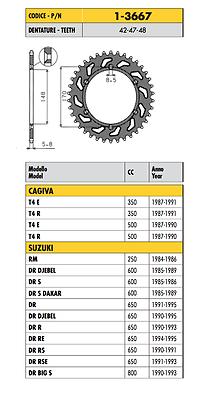 1-3667 - Corona Passo 520 Suzuki Dr Rse 650 1991 1992 1993 Moderno Ed Elegante Nella Moda