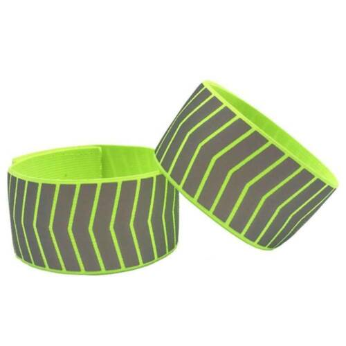 Running Cycling Reflective Strip Warning Bike Safety Bicycle Strap Tape Portable