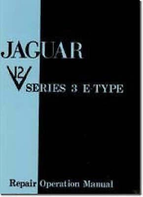 Jaguar E Type V12 Series 3 Workshop Manual, Brooklands Books,  Paperback