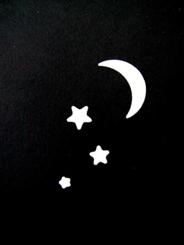 Trees Stars//Moon SB 3 Sets of Camping Die Cuts Camp Any Colour//Card Tent