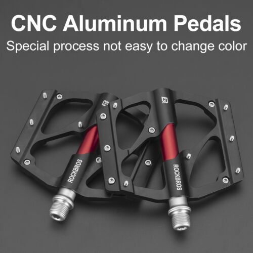 ROCKBROS Fahrrad Pedale MTB Plattformpedale 9//16 Zoll CNC Sealed Bearing 2 Farbe