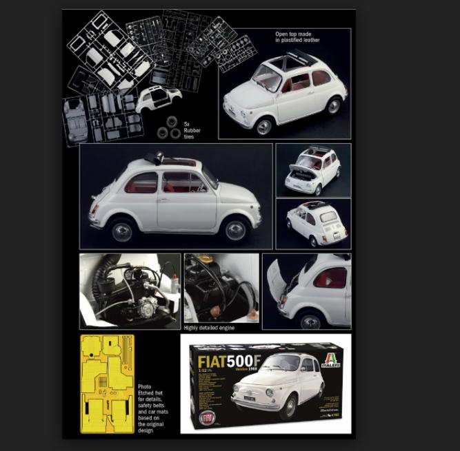 FIAT 500F 1968 1 12  Kit di montaggio 4703 ITALERI