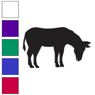 Donkey Mule Kicking Decal Sticker Choose Pattern Size #1311