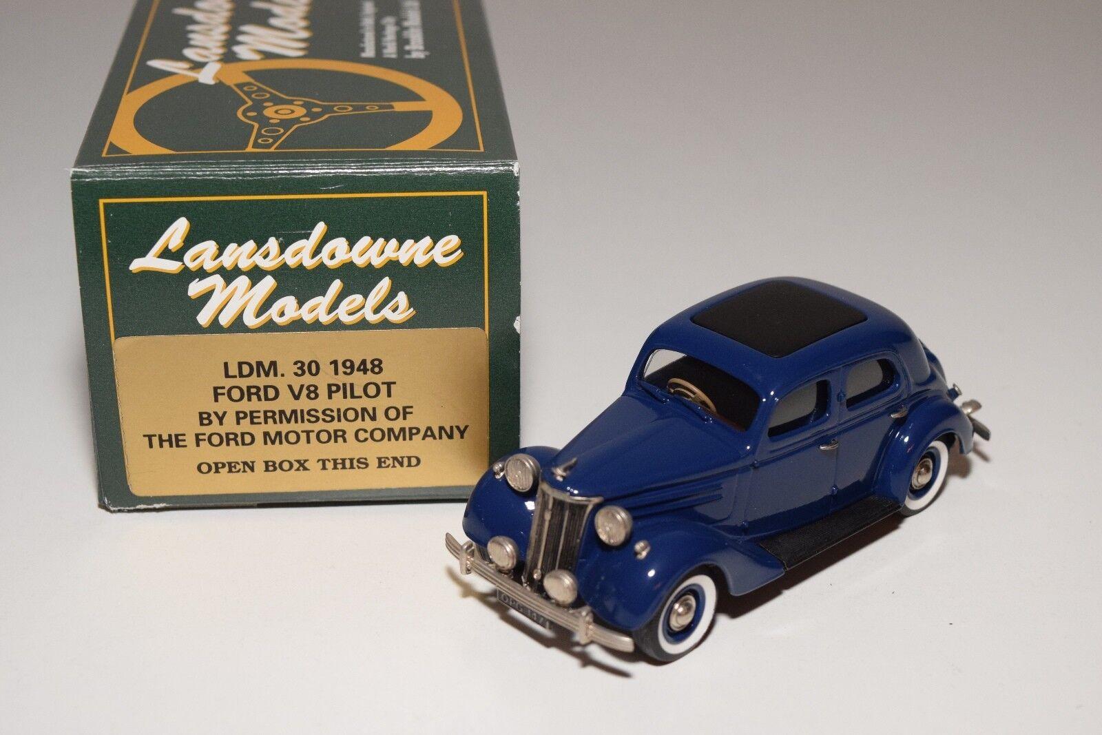 LANSDOWNE MODELS LDM 30 1948 FORD V8 PILOT azul MINT BOXED