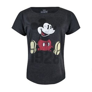 Disney-Mickey-Mouse-1928-2018-90th-Anniversary-Ladies-T-Shirt