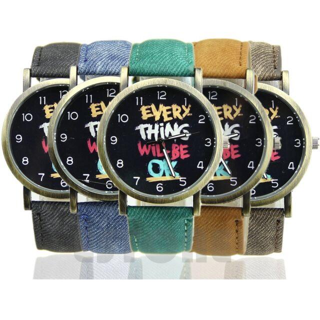 Fashion Women Men Unisex Leather Band Analog Quartz Sport Wrist Watch Watches
