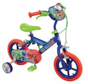 Pj Masks Blue Kids Bike With Stabilisers 12 Eva Tyres Calliper