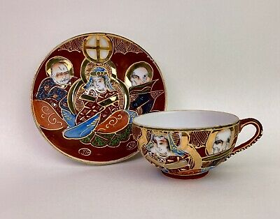 SATSUMA PORCELAIN JAPANESE CUP AND SAUCER BY MARUNI /& Co.