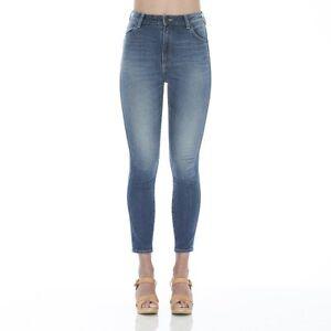 Wrangler-Women-039-s-Hi-Pins-Cropped-Stretch-Skinny-Jeans-Dallas-Blue-RRP-149-95