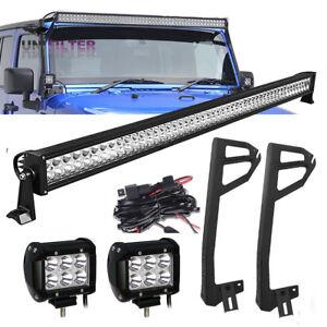 50-034-52-034-4-034-LED-Light-bar-Mount-Bracket-Wire-Fit-For-Jeep-Wrangler-JK-07-17