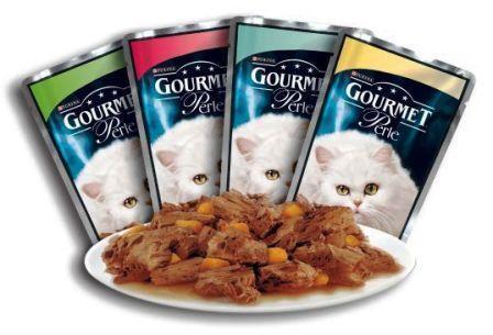 192 BUSTINE GOURMET PERLE 85 gr umido per gatti gatto gusti a scelta le perle