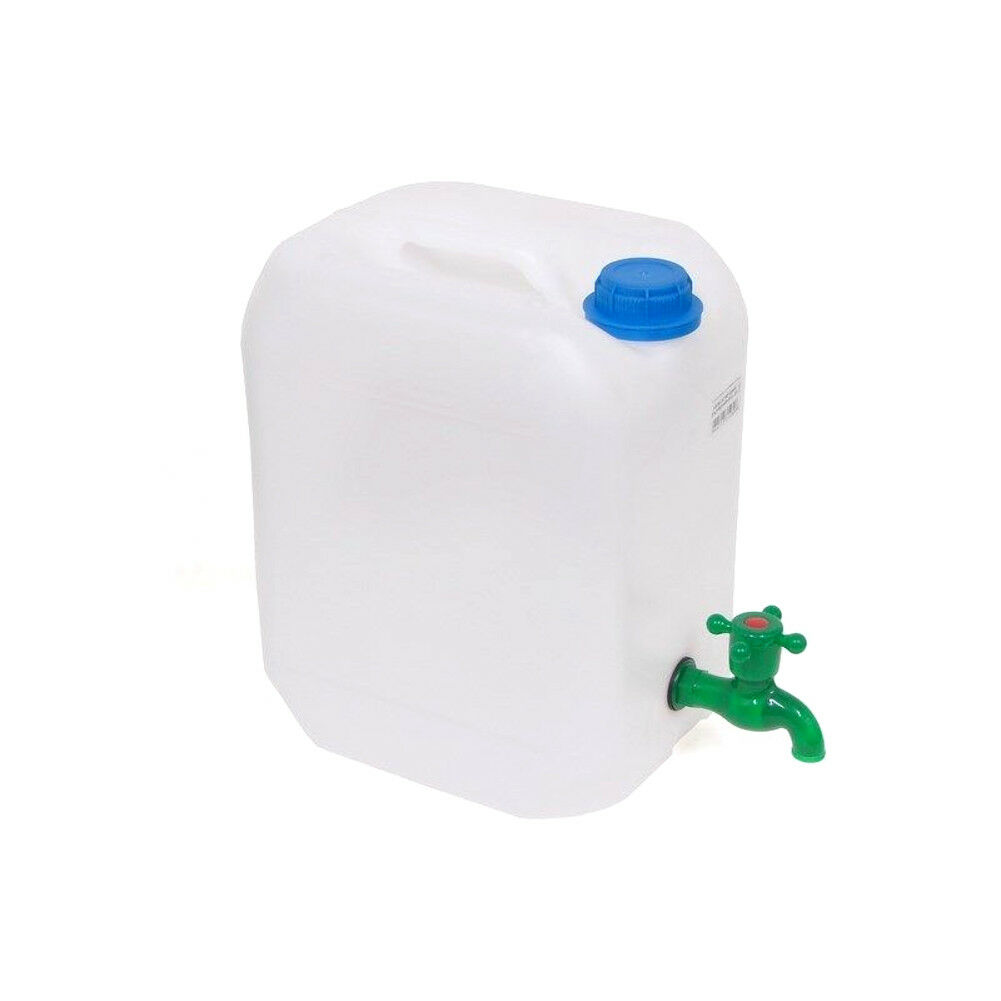 30 Litre Plastic Water Jerry Can Carrier Container Storage With Pouring Tap 30 L