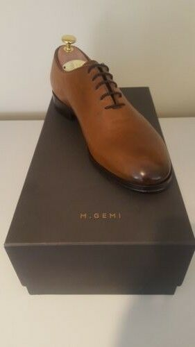 M.Gemi 40.5 40.5 40.5 fits 8, 8.5D wholecut oxford made in italy walnut braun  600 NEW 1f0512